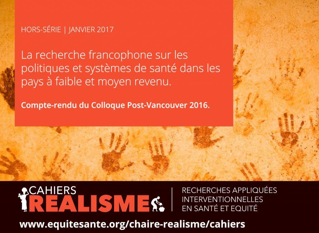 La recherche francophone sur les politiques et systèmes de santé dans les pays à faible et moyen revenu.