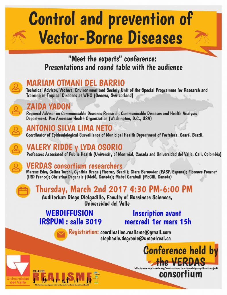 Contrôle et prévention des maladies à transmission vectorielle: les experts présents à la conférence